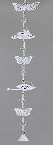 formano hangslinger decoratieve slinger deurdecoratie raamdecoratie decoratieve hanger gieter met vlinder, crème 110 cm