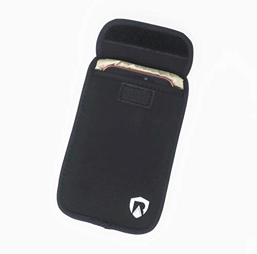 RadiArmor Anti-Radiation Cell Phone Sleeve - EMF Blocking Pouch That Fits Most Cell Phones - Updated Version (Black, Large)