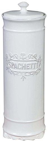 Biscottini Contenitore per spaghetti in porcellana bianca Shabby L10xPR10xH30 cm