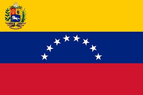 Gran Bandera de Venezuela 150 x 90 cm Satén Durobol Flag