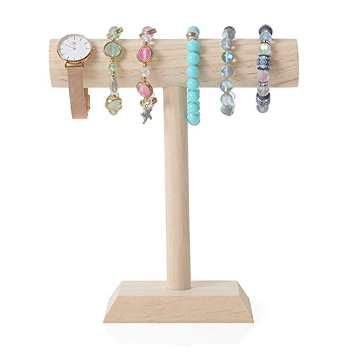 De Madera En T Exibidor Soporte De Joyería Joyas Relojes Collares Y Pulseras Brazaletes Organizador De Joyas para Tienda De Dormitorio Tienda O Feria De Artesanías,S