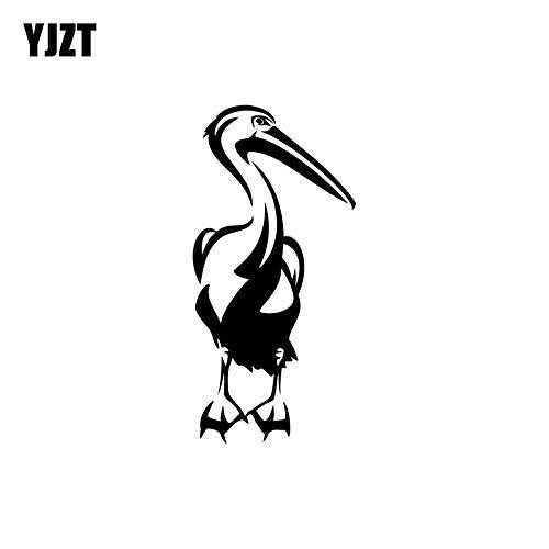 JYIP 7.6CM*16CM Cute Pelican Bird Vinyl Decoration Decal Car Sticker Black/Silver Accessories C11-1057 Silver