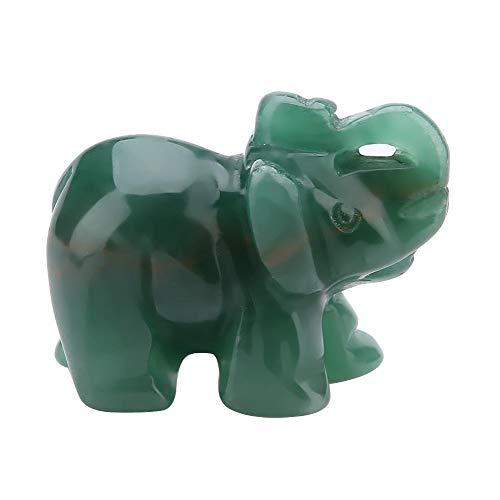 Naturstein Elefant Figur Jade Geschnitzte Glücklicher Elefant Artware Home Decoration Einrichtungsgegenstand 1,5 zoll(07)