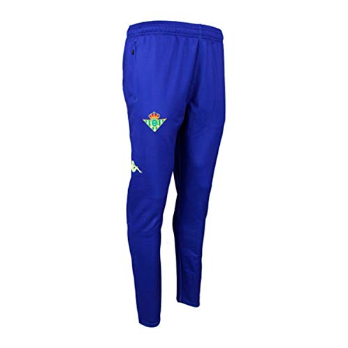 Pantalón largo de entrenamiento - Real Betis Balompié 2018/2019 - Kappa Abunszip 2 Pants - Azul Royal - Adulto