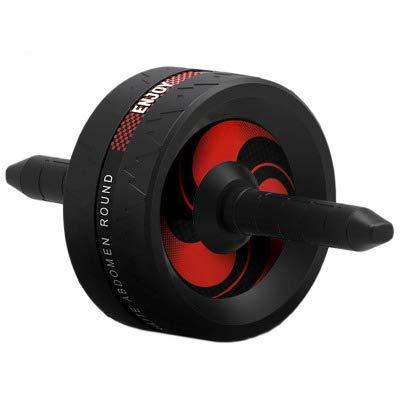 RHSMW Abdominal Rad Bauch Fitness-Training mit Schaumstoffgriff - Bauchtrainingsgerät Fitness Krafttraining Fitnessgerät