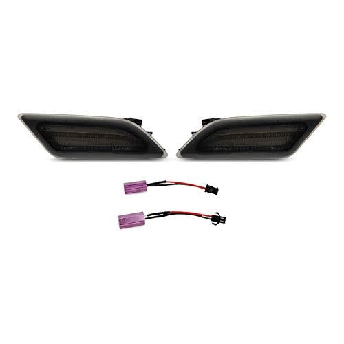 NERR YULUBAIHUO Lente de Humo Color ámbar LED LED Marcador Delantero Luz de Giro Lámpara de señal Ajuste para 12-14 Benz W204 C250 C300 C350 (Emitting Color : Smoke Lens)