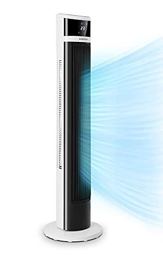 KLARSTEIN Icetower Smart Fan - ventilateur sur pied, 45 watts, affichage numérique, avec télécommande, minuterie 24 h, 3 modes de vent, 100 m³/h, connexion WiFi - blanc