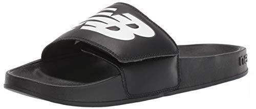 New Balance Men's 200 V1 Slide Sandal, Black/White, 10 D US