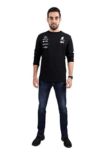 Official Formula One - Mercedes-AMG Petronas Motorsport 2020 - Team Langarm-T-Shirt - Schwarz - Size:M