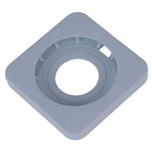 Base de silicona, funda protectora para cargador Diseño de borde redondo simple y hermoso para proteger el teléfono móvil y el cargador inalámbrico(grey)