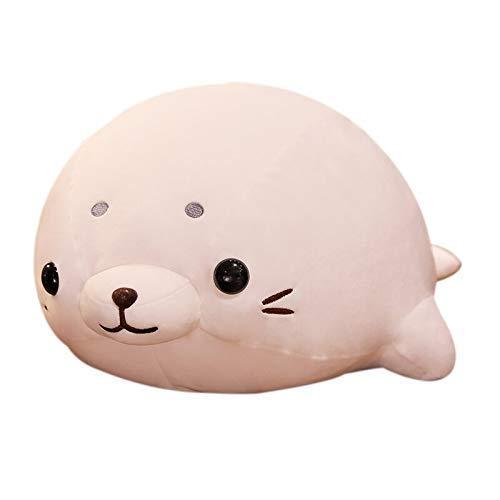 FGBV Plüschspielzeug 1 Stück 50 cm Weiche Baumwolle Daunen liegend Seal Plüsch Spielzeug Schöne Stofftier Puppe Kawaii Kissen Home Decor Brinquedos Geschenk for Kinder Manmiao