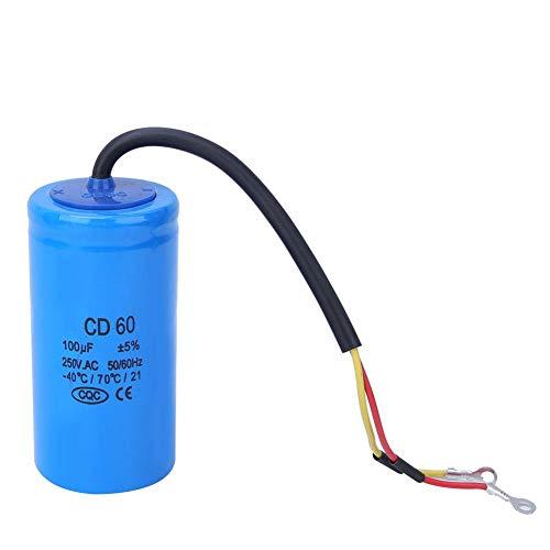 Condensatore Motore 250 V 100uf Componente Elettronico CD60 Condensatore Antideflagrante per Frigoriferi, Condizionatori d'aria e Generatori