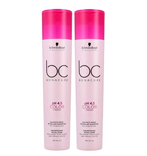 2er Sulfatfreies Shampoo pH 4.5 Color Freeze Bonacure Schwarzkopf Professional 250 ml
