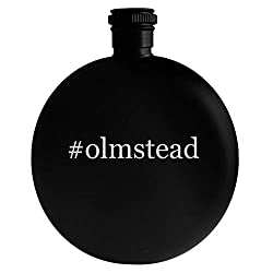 #olmstead - 5oz Hashtag Round Alcohol Drinking Flask, Black
