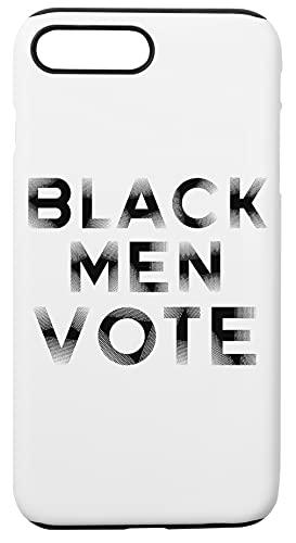 Black Men Vote Caja del Teléfono Compatible con iPhone 7+, iPhone 8+ Cubierta de Plástico + Silicona Duro Hard Plastic Cover