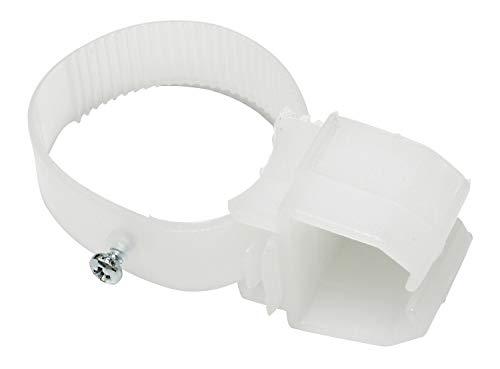 GARDINIA Halter variabel für U-Laufschienen, 2 Stück, Kunststoff, Weiß