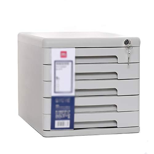 ZZRWJH File Boxes File cabinets Desktop locker Plastic file box 5e verdieping Met slot Lade type Wit/zwart