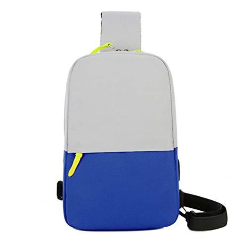 ZRH Bolso Portátil 10 Pulgadas Tablet Mensajero Bolsos De Un Solo Hombro Unisex Bolsa De Pecho De Viaje para iPad Caja De Bolsa De Bolsa Impermeable (Color : Blue, Size : 10 Inch)