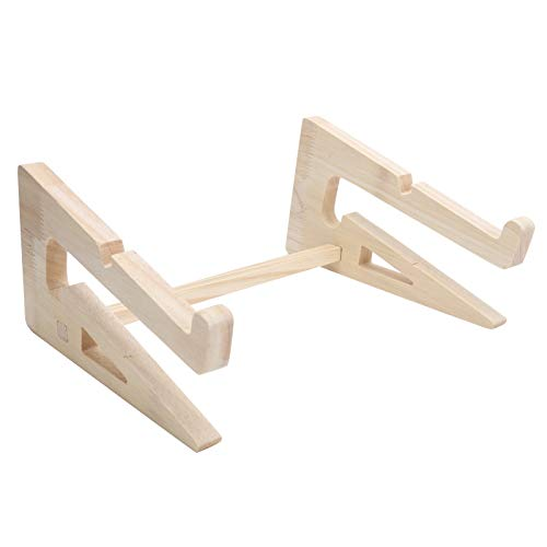 Laptop Stand, Wood Portable Notebook Holder Riser for 13‑17inch Laptop Computer