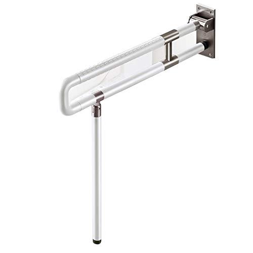 YVX Rieles de la bañera Apoyabrazos Marco Nylon Acero Inoxidable apoyabrazos Plegable Seguridad sin barreras apoyabrazos para Ancianos baño (Color: A, tamaño: 60CM)