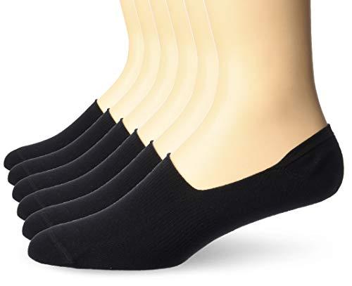 Amazon Essentials Loafer Liner Sock loafers-shoes, schwarz, 6-12 (6-er pack)
