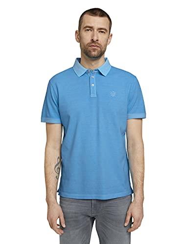 TOM TAILOR Herren 1026022 Basic Poloshirt, 16028-Aquarius Turquoise, 3XL