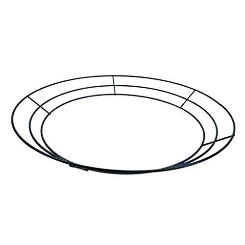 joyMerit 花輪フレーム リングワイヤー クリスマス用 新年 バレンタイン 金属線 飾り - 30cm(12インチ)