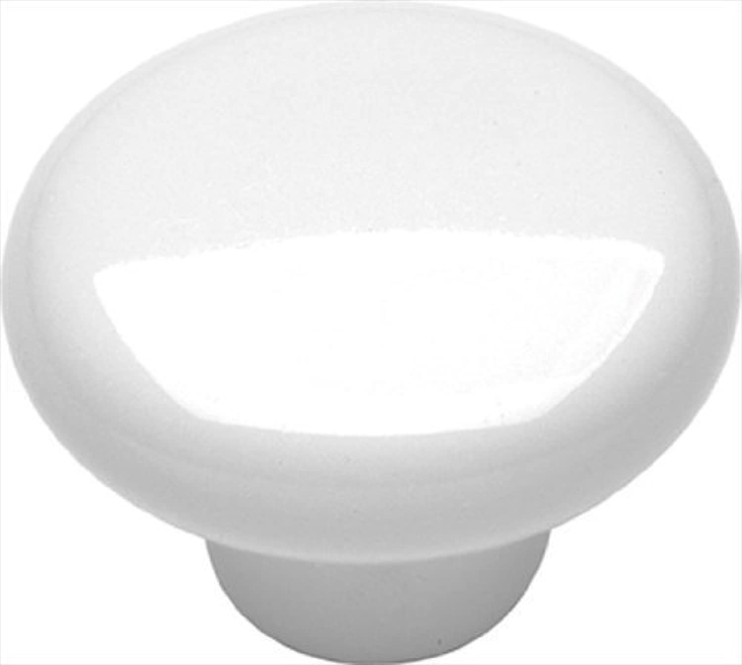 Belwith Keeler Morning Sun Collection 1 1 4 Cabinet Knob White Porcelain by Hickory Hardware