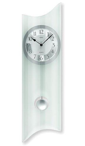 AMS Péndulo 7324 - Reloj de pared de cuarzo con péndulo...