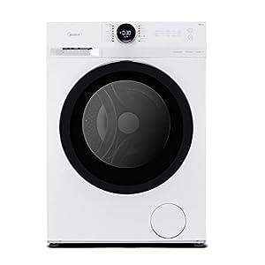 Midea MF200D90B/E Freestanding Washing Machine, BLDC and LED Display, 1400 RPM, 9 kg Load, White [Energy Class B ]
