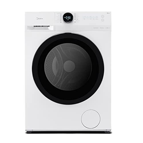 Midea MF200W70B/E Freestanding Washing Machine, BLDC and LED Display, 1400 RPM, 7 kg Load, White