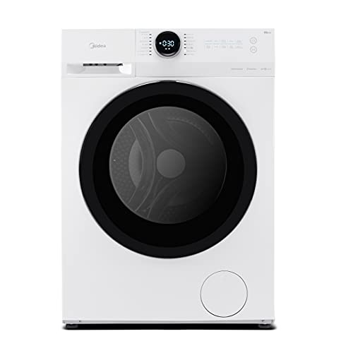 Midea MF200W70B/E Freestanding Washing Machine, BLDC and LED Display, 1400 RPM, 7 kg Load, White, Decibel rating: 76, EU Acoustic Class: B