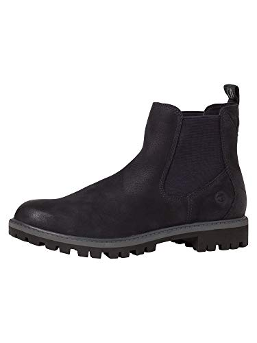 Tamaris Damen Stiefeletten, Frauen Chelsea Boots,lose Einlage, Stiefel halbstiefel Bootie Schlupfstiefel flach Lady Women,Navy,40 EU / 6.5 UK