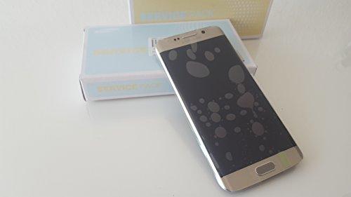 Original Samsung G925 F Galaxy S6 Edge LCD Touch Screen Display Glas Front Rahmen gold mit Service Pack ( KEIN Handy NUR Display)