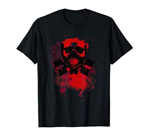 Gasmaske Zweiter Weltkrieg Feuerwehrmann Soldat Gamer T-Shirt