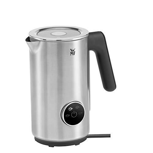 WMF Lumero Design-Milchaufschäumer elektrisch, Frappe Mixer, 100-250 ml, Touch-Display, LED-Licht, 500 Watt, für Milchschaum heiß und kalt, heiße Milch, Milcherwärmer, edelstahl matt