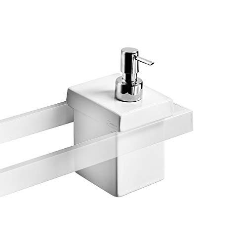 Lineabeta 52804.09.29 Dispenser a Parete Serie Skuara, Bianco, 14 x 2 x 12 cm