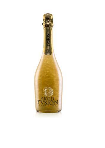 Vino espumoso. GOLD FVSION Golden Sin Alcohol-ideal Día del Padre, cumpleaños, carnaval, Halloween, fiesta, celebración, boda, brindis