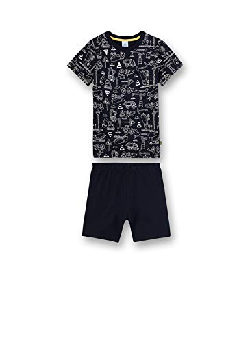 Sanetta Jungen Pyjama kurz Zweiteiliger Schlafanzug, Blau (blau 50151), (Herstellergröße:116)