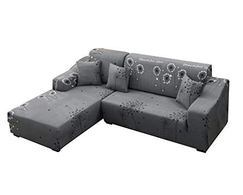 Stretch Bedruckt Sofa Couch Bezüge 1/2/3/4 Sitzer Kombinationsset Elastischer Schonbezug Universal Pillow Cover X 1 2 2 Sitzer(145-185Cm/57-72