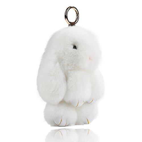 Easter Bunny Doll Keychain Soft Cute Rabbit Fur Fluffy Plush Pendant Key chain
