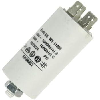 Fixapart W1-11007N, Condensador (6,3uF/450), Blanco: Amazon.es ...