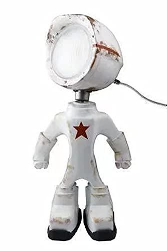 Robot lámpara retro estilo industrial rústico mesa creativo hierro robot estilo vintage steampunk lámpara de escritorio blanco
