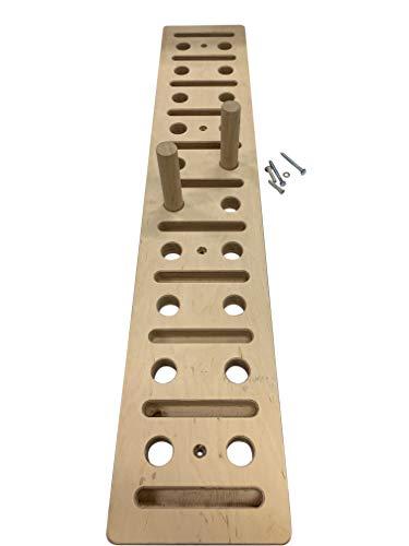 Stecktafel, Training, in vielen Größen erhältlich, direkt auf die Wand-/Klettern, zum Aufhängen, Holz-Griff-Trainer, Ladefläche Kugelhantel/Kettlebell/Hantel, 3 kg, 120cm by 21cm