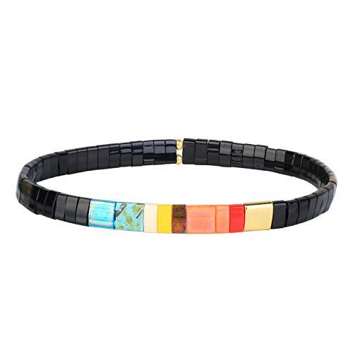 KELITCH Bracelets À Brins De Perlés Miyuki De Bonbons Nouveux Bracelets D'amitié De Coloré Bracelets Extensibles De Tila Bijoux De Mode Fait À La Main pour Femme 2020 C