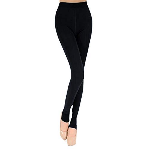 Eleery Damen weiche Slim Leggings Leggings Hose Dicke Winter warme Fleece-Futter Stretch Hüfthose Gamaschen (Marineblaus)