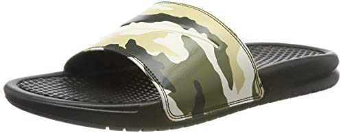 Nike Herren Benassi JDI Print Dusch- & Badeschuhe, Mehrfarbig (Sequoia/Pale Ivory/Team Gold/Med Olive 301), 40 EU