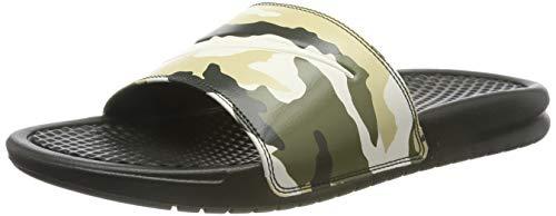 Nike Herren Benassi JDI Print Dusch-& Badeschuhe, Mehrfarbig (Sequoia/Pale Ivory/Team Gold/Med Olive 301), 41 EU