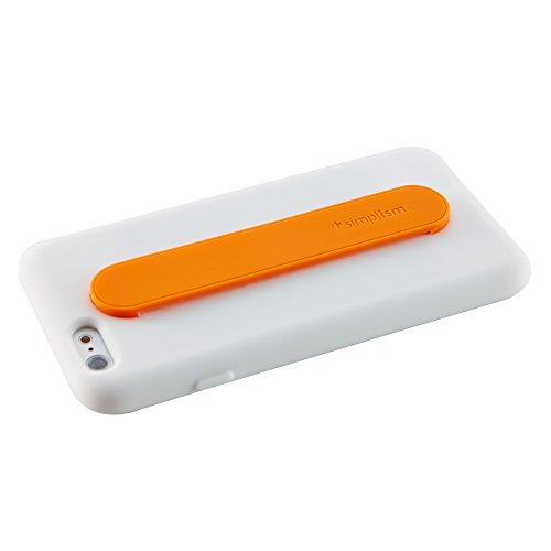 Simplism iPhone6 (4.7インチ)用 カードポケット&背面バンドシリコンケース ホワイト TR-SCBIP144-WT