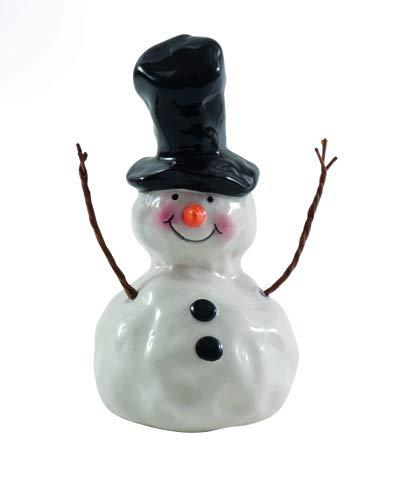 Seyko Deko Schneemann - Carlo - 14 cm Schneemannfigur Weihnachtsfigur Weihnachtsdeko Dekofigur zur Weihnachtszeit Winterdeko